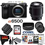 Sony Alpha a6500 Mirrorless Digital Camera (Body Only) International Version (No Warranty) + 18-200mm f/3.5-6.3 Lens Bundle