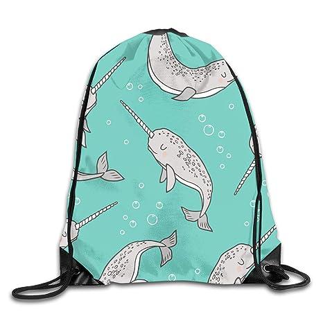 Amazon.com: PJHDCK Narwhal Grey On Green Gym Sport Bag ...
