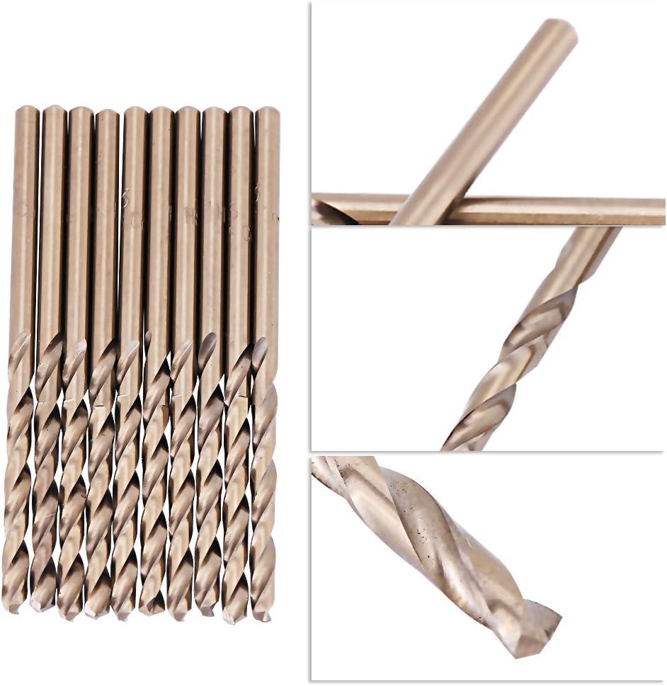 Zerone M35 Cobalt Twist Drill Bit Set HSS-CO Drills Set 1.0-5.0MM for Drilling on Stainless Steel 1mm
