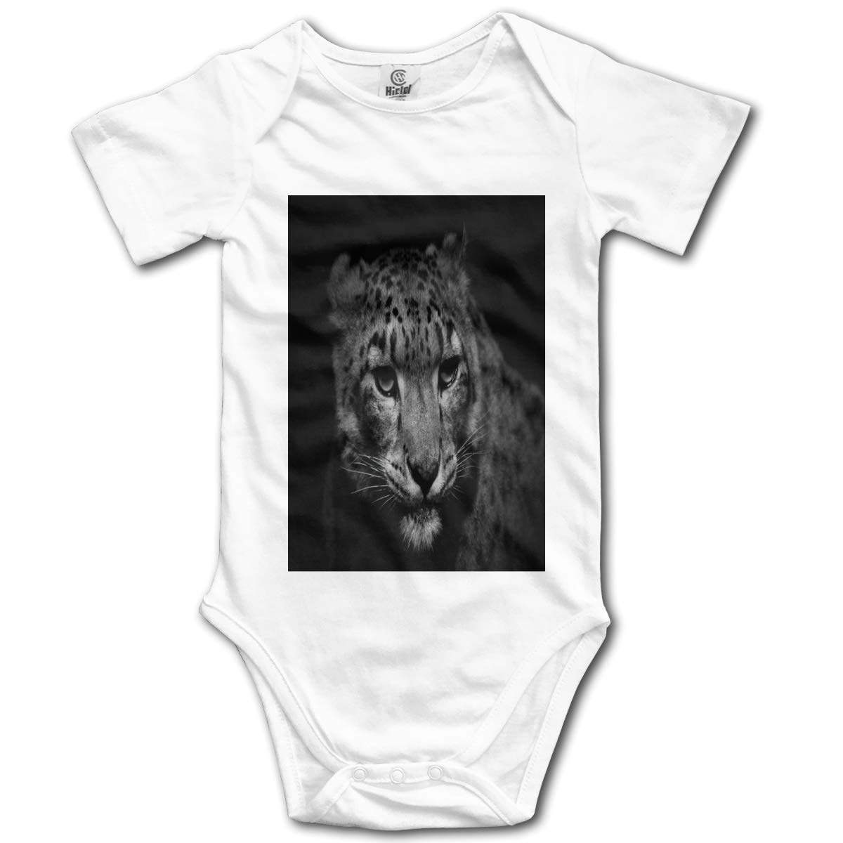 Fierce Leopard in The Dark Boys /& Girls Black Short Sleeve Romper Climbing Clothes for 0-24 Months