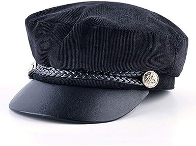 MingDe Sports Fashion Hats Woman Wool Cap for Women Ladies Hat Octagonal Hat Peaked Cap Warm Military Caps