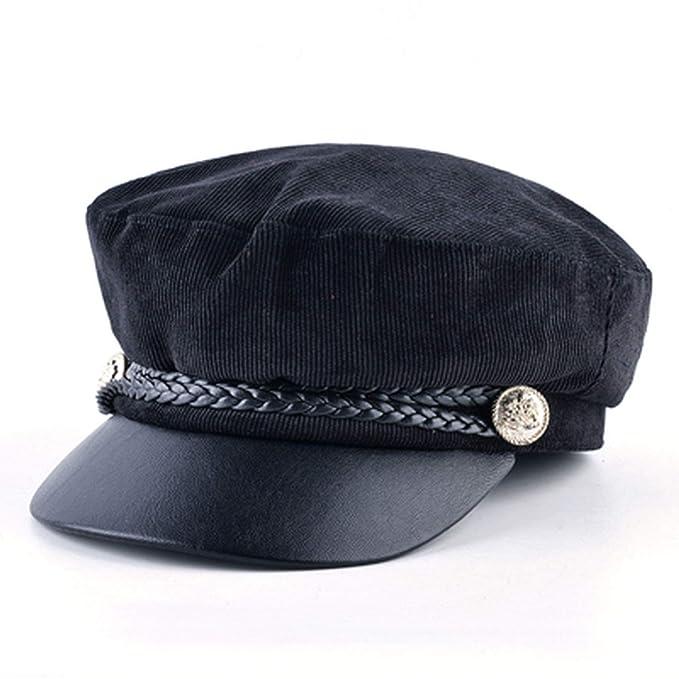52a86359f5e Fashion Flat Beret Hat for Women Spring Newsboy Cap Girl Vintage Military  Caps Bonnet Women Octagonal