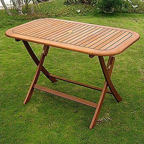 (International Caravan TT-RE-053-IC Furniture Piece Royal Tahiti Rectangular Folding Table)