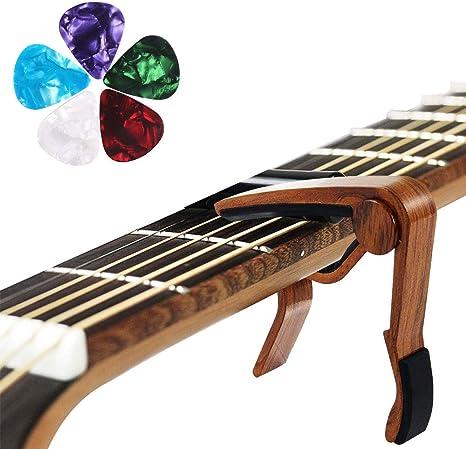 HO2NLE Cejilla Guitarra Capo para Guitarra con 5 Placas de ...