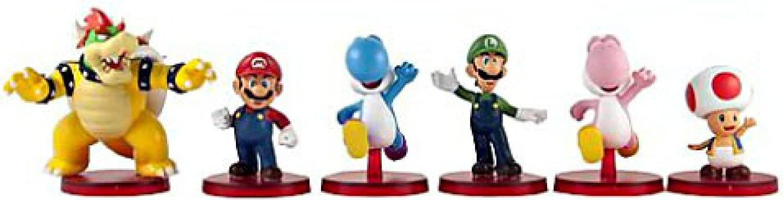 Super Mario Bros Mini Figure 6-pcs set #810SMBK