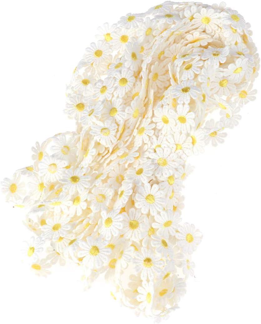 HEALLILY margarita sol flor parche encaje diy cinta arte artesan/ía cinta para decoraci/ón amarillo