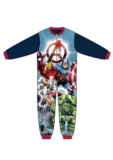 Marvel, Disney - Pijama de una pieza - para mujer Azul Avengers Navy Sleeve