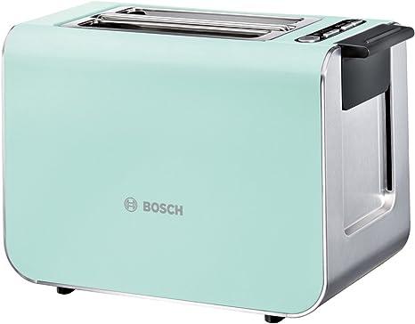 Bosch TAT8612 - Tostador (2 rebanada(s), Azul, Plata,