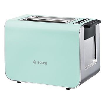 Bosch TAT8612 - Tostador (2 rebanada(s), Azul, Plata ...
