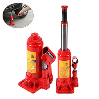 Bottle Jack Heavy Duty Steel 5 Ton Lifting Stand for Car Van Boat Truck Caravan Hydraulic Lifting Jack