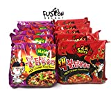 #10: Fusion Select Samyang Spicy Chicken Ramen 2x Spicy & MALA Combo, Pack of 10