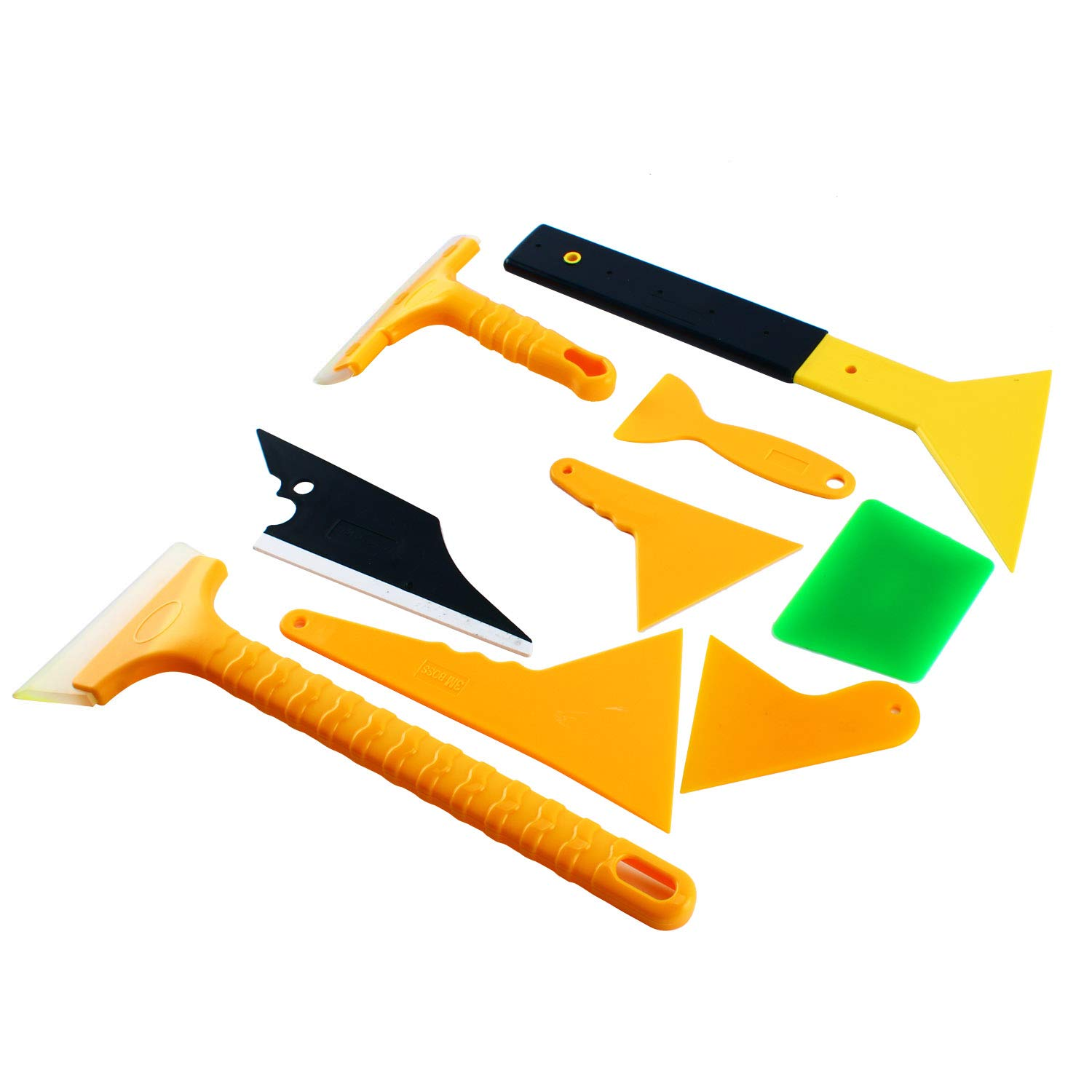 10-Piece Professional Car Window Tint Film Install Tool for All Edges and Corners
