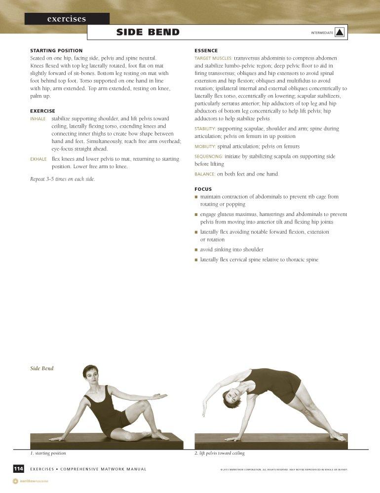 Amazon Stott Pilates Manual Comprehensive Matwork English