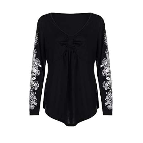 Amazon.com: YKARITIANNA Womens Long Sleeve Solid Plus Size Lace Casual Blouse Loose Tops T-Shirt: Arts, Crafts & Sewing