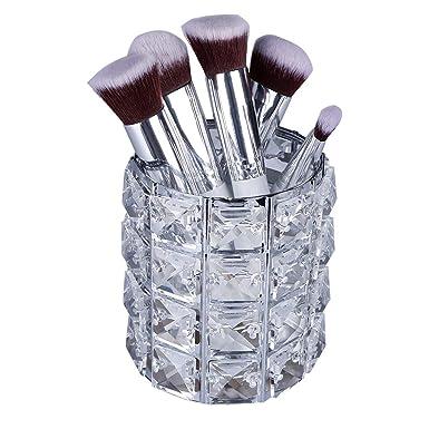 Soporte para brochas de maquillaje de cristal, soporte ...