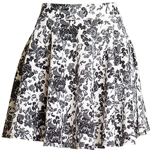 ragstock-womens-patterned-skater-skirt