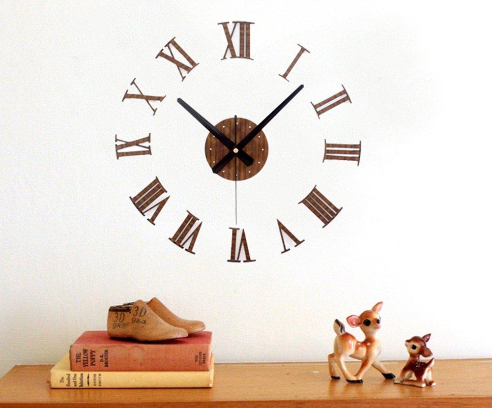 Relojes de Pared Tridimensional DIY Relojes Romana Digital: Amazon.es: Deportes y aire libre