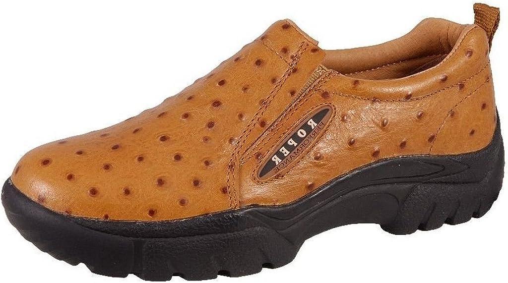 Roper Mens Faux Ostrich Slip On Shoe 9