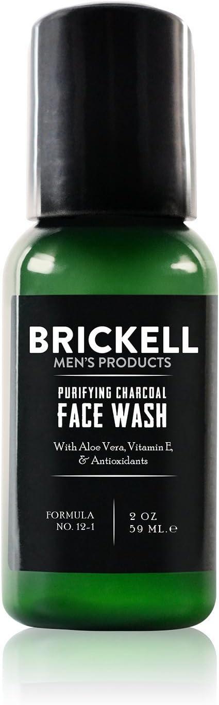 Brickell Men's Products Detergente Viso Purificante al Carbone