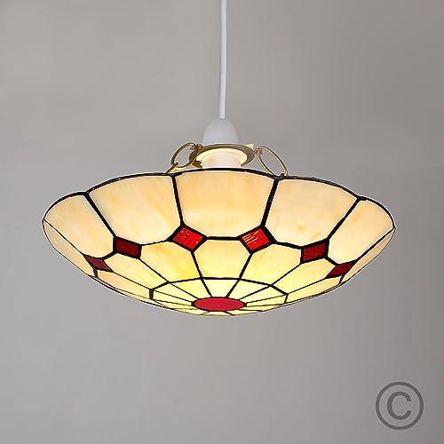 Tiffany red cortez jewel pendant ceiling light shade amazon tiffany red cortez jewel pendant ceiling light shade aloadofball Images