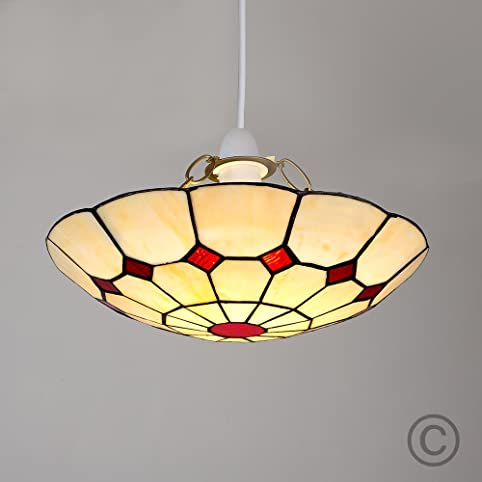 Tiffany red cortez jewel pendant ceiling light shade amazon tiffany red cortez jewel pendant ceiling light shade audiocablefo light Images