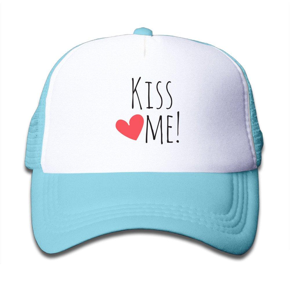 Kiss Me Child Teen Adjustable Snapback Baseball Caps