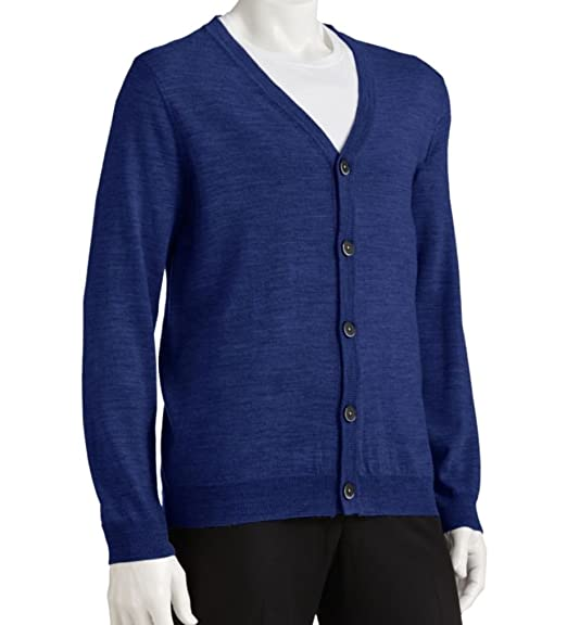 Liz Claiborne Apt 9 Mens Cardigan Lightweight Sweater Merino Wool