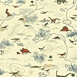 York Wallcoverings SB7745 Brothers and Sisters V Mesozoic Era Wallpaper, Cream/Brown/Dark Blue/Green/Orange/Tan