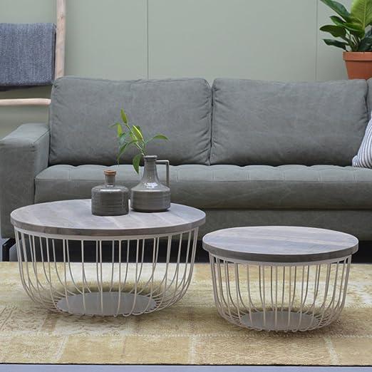 Set Of 2 Coffee Table Kate Metal Mango Nest Of Tables End Lamp Table Sofa Table Amazon De Kuche Haushalt