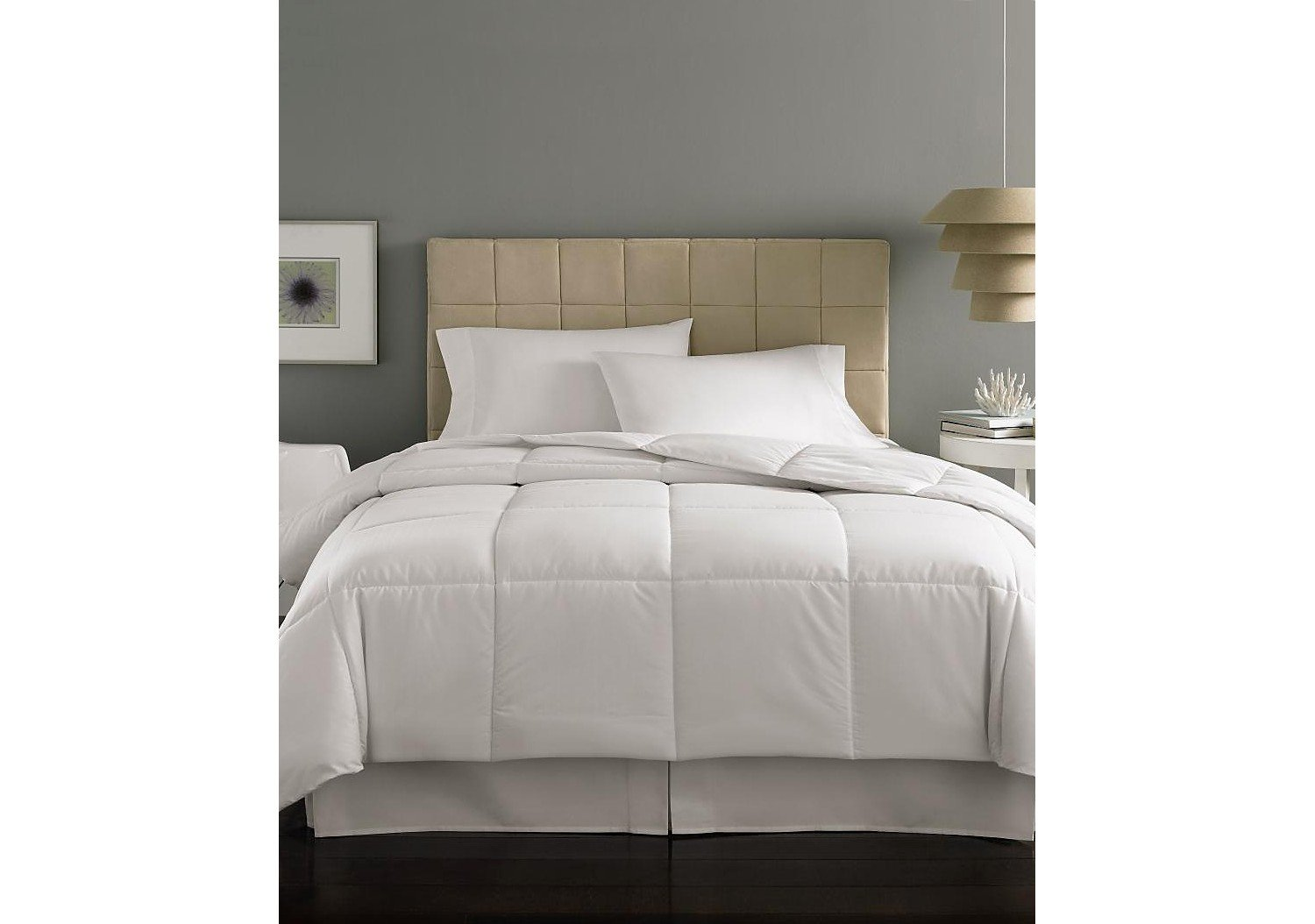 Amazon.com: Home Design Mini Stripe Down Alternative Comforter King ...