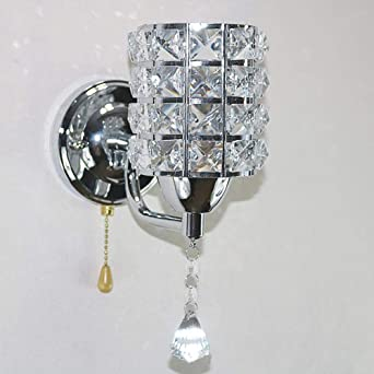 Alian Applique Murale Design Cristal Lumieres Chrome Brillant