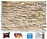 Poster – Noble Beige Stonewall – Picture