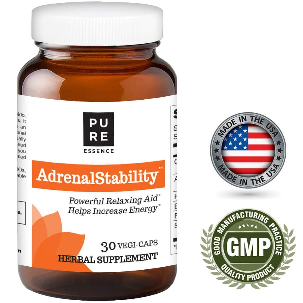 Adrenal Stability by Pure Essence Labs - Natural Adrenal Health Support Supplement for...