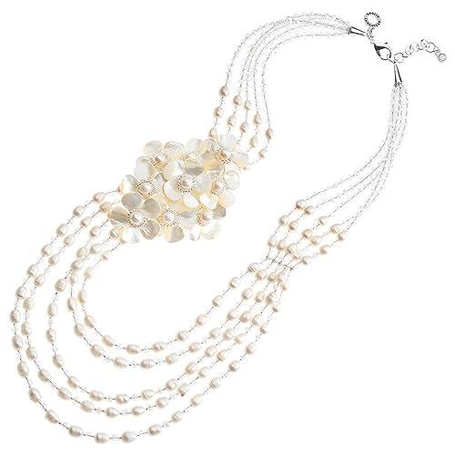 comprare a buon mercato New York dettagli per Collana Ottaviani 500241C Cristalli con perle e Madreperla: Amazon ...