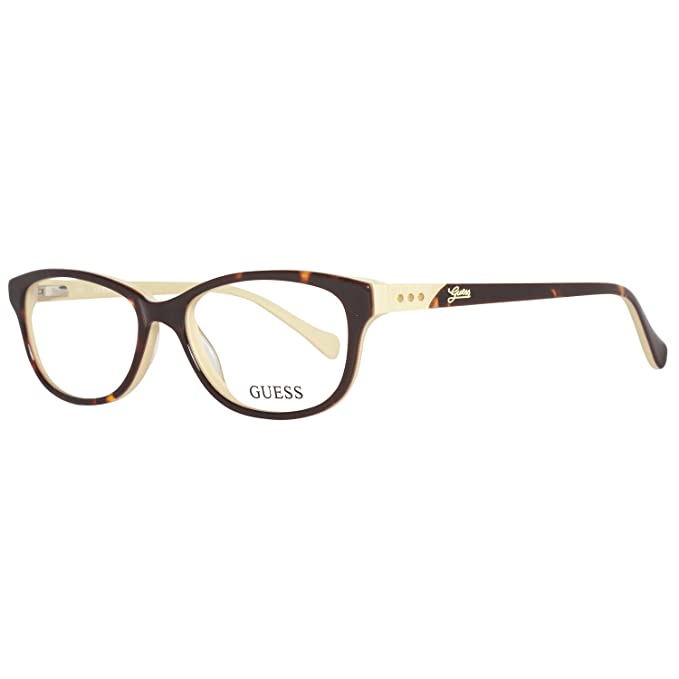 33daeef95f Guess GU2291 Glasses in Tortoiseshell on Cream GU2291 S87 52 52 Clear