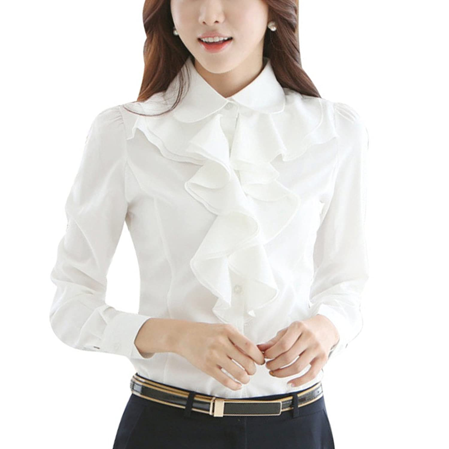 Long Sleeve Satin Blouse