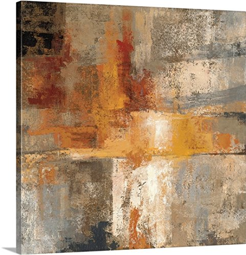Silvia Vassileva Premium Thick-Wrap Canvas Wall Art Print entitled Silver and Amber Crop 36