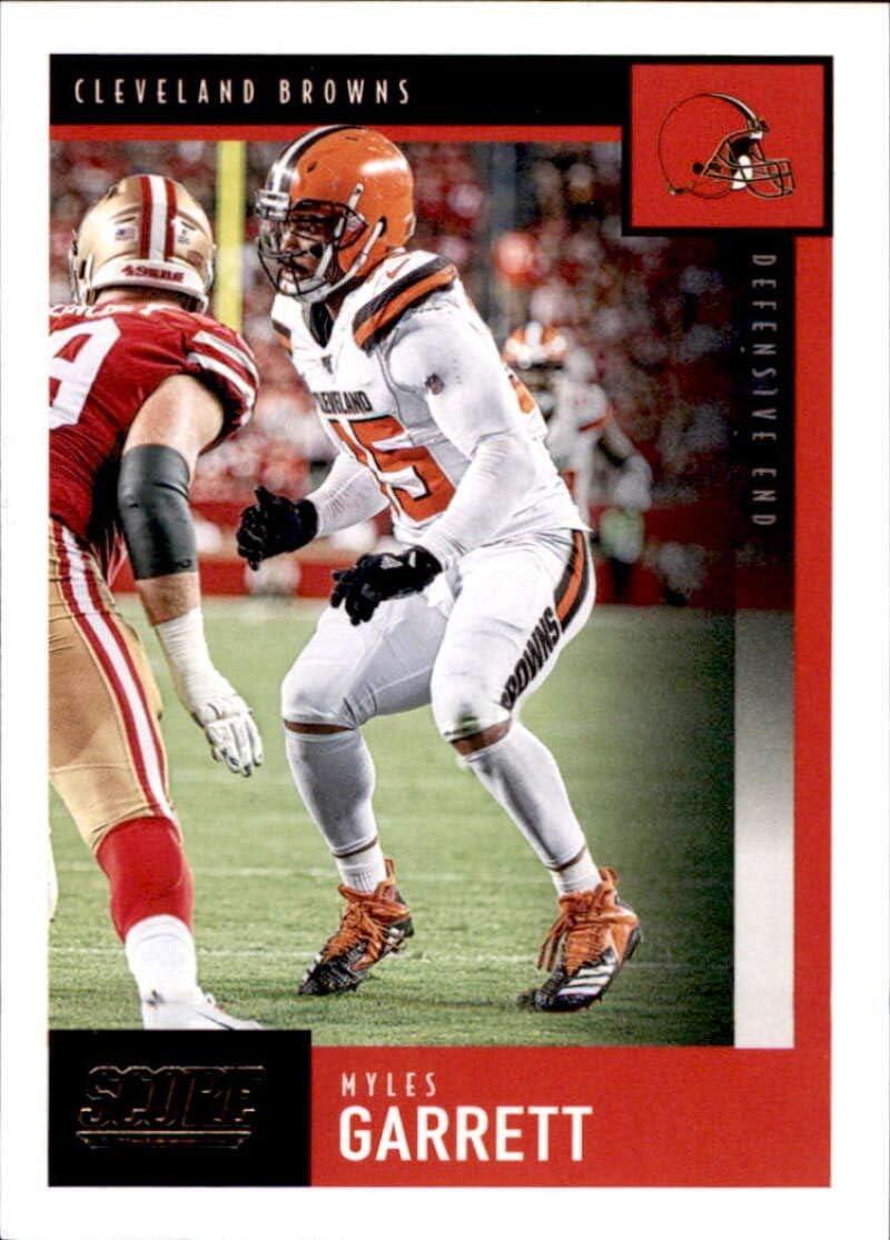 Amazon Com 2020 Score 68 Myles Garrett Cleveland Browns Football Card Collectibles Fine Art