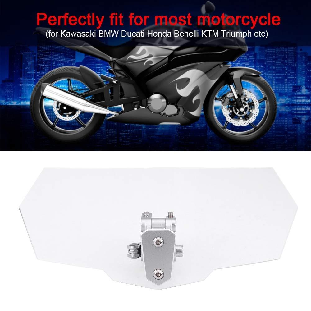 Motorcycle Windscreen Universal Transparent Adjustable Motorcycle Windshield Wind Deflector