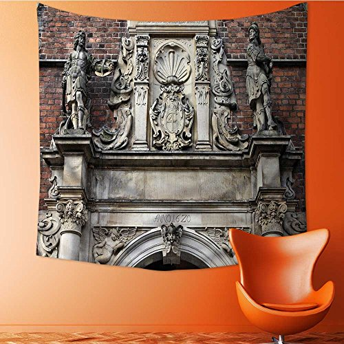 Muyindo Wall Hanging Tapestries Wall Art Tapestries Wall Tapestries copenhagen old town architectural feature church of the holy spirit capital Tapestry Dorm Decor Tapestry/59W x 59L INCH by Muyindo