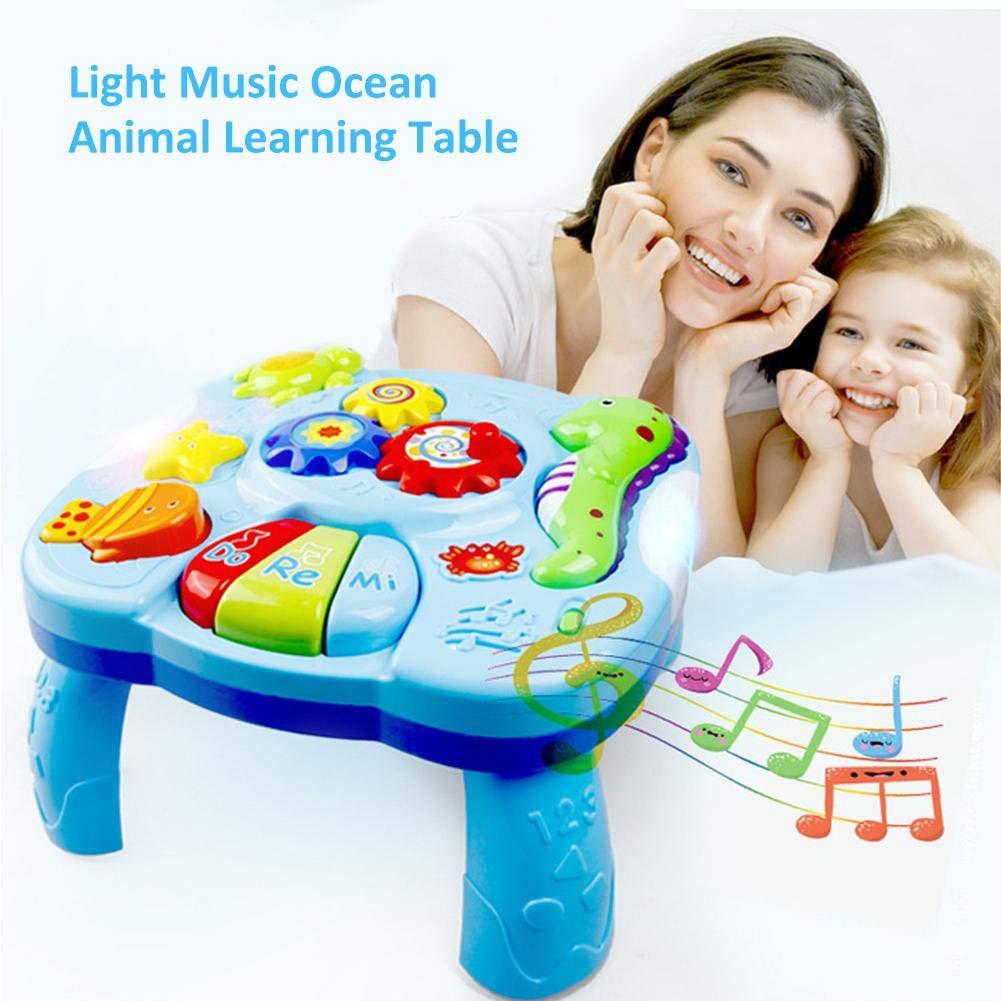 Musikalische Lerntisch Baby Spielzeug Musikalische Tabelle Meerestiere Musik Aktivit/ätszentrum Spieltisch Lernspa/ß Spieltisch Baby Spielzeug