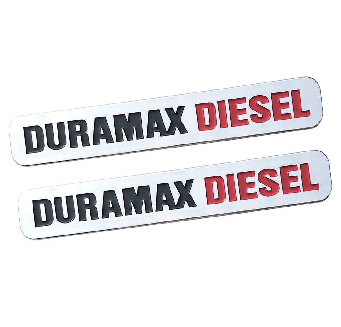 Yuauto 2 Pack Duramax Diesel Allison Truck Emblem Badges Silverado 2500 3500HD Sierra
