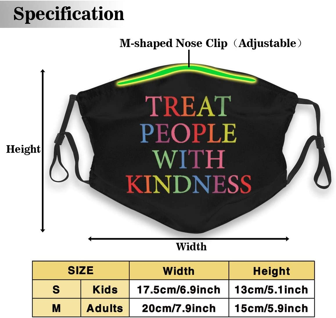 Give Five Mouth Guard Treat People With Kindness Personalized Mouth Sleeve Reusable Mouth Guard