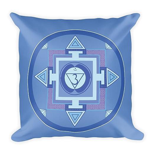 Tercer ojo azul Chakra Cojín 45 x 45 cm, yoga, meditación ...