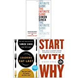 Simon Sinek 3 Books Collection Set (The Infinite Game [Hardcover], Leaders Eat Last, Start With Why)