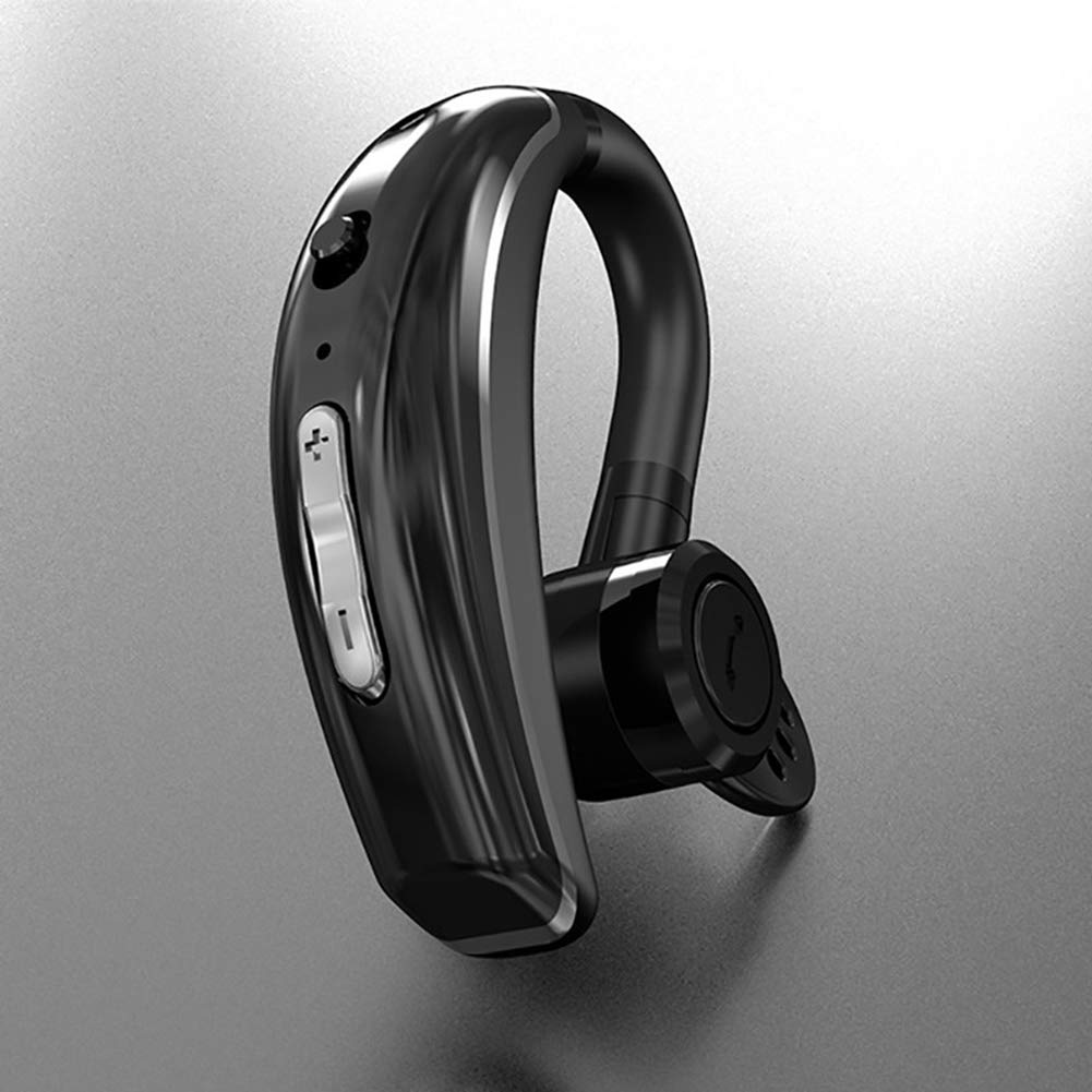 Milnnare Manos Libres Auriculares con Micr/ófono Bluetooth4.1 Impermeable Est/éreo Gancho Oreja Headphones Negro