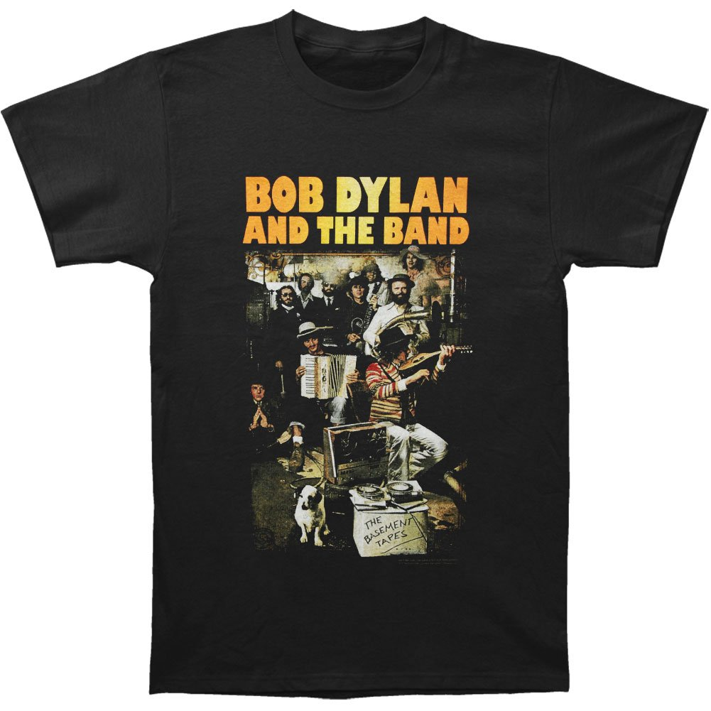 Bob Dylan Men's Basement Tapes Slim Fit T-shirt XX-Large Black