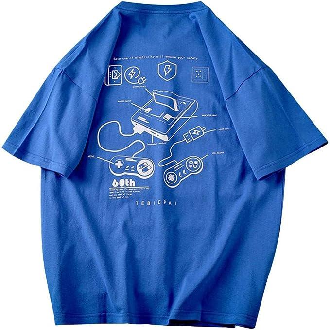 SUDADY Camisetas para Hombre, Camisa de Manga Corta Casual Suelta ...