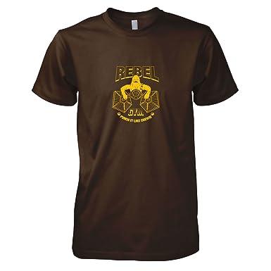 TEXLAB - Rebel Gym - Herren T-Shirt, Größe S, braun