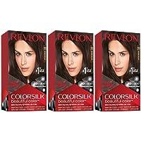 Revlon Colorsilk Beautiful Color, Permanent Hair Dye with Keratin (20 Brown Black)
